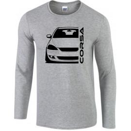 Opel Corsa C GSI Outline Modern Longsleeve Shirt