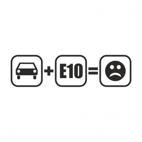 Auto (plus) E10 (gleich) Bad Smiley