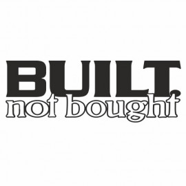 Built not bough