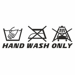 Hand wash only Carwash