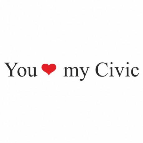 You love my Civic