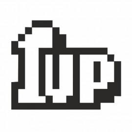 1Up 8 Bit outline